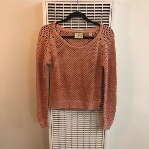 NWOT Maison Scotch | Pink Velvet Knit Sweater